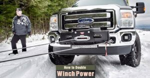 How to Double Winch Pulling Power