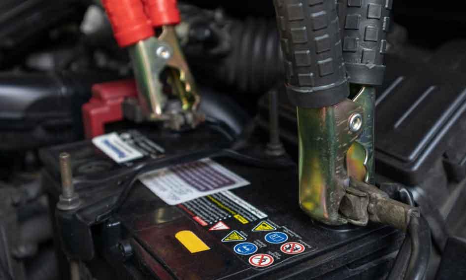 Car battery washing in car