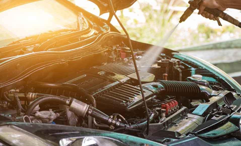 Washing Car Engine Problems