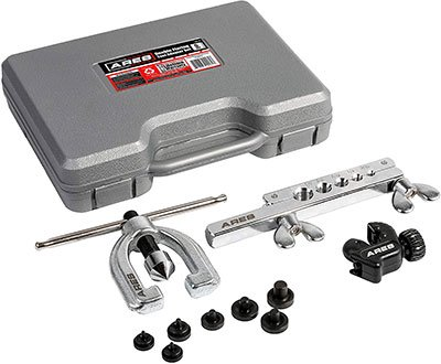 ARES 18019 - Double Flaring Tool Set with Extra Adapters