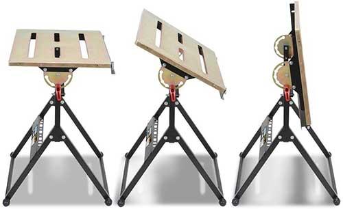 Best Adjustable Option - Eastwood Adjustable Steel Welding Table