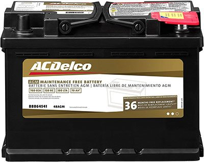 Perfect Stand Alone for Winching - ACDelco 48AGM Battery