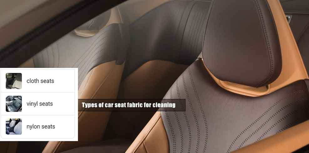 types of car seat fabric for Cleaning