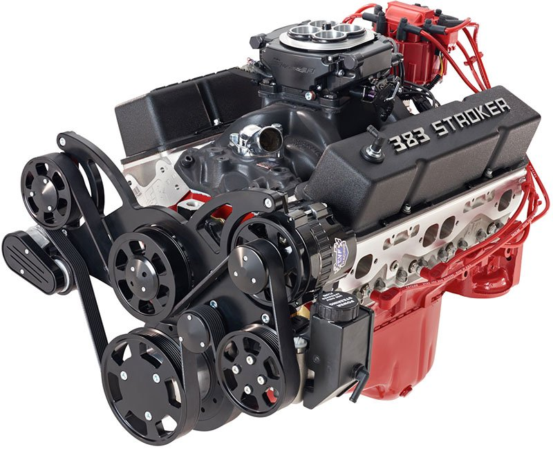 How much horsepower does a 383 stroker have?