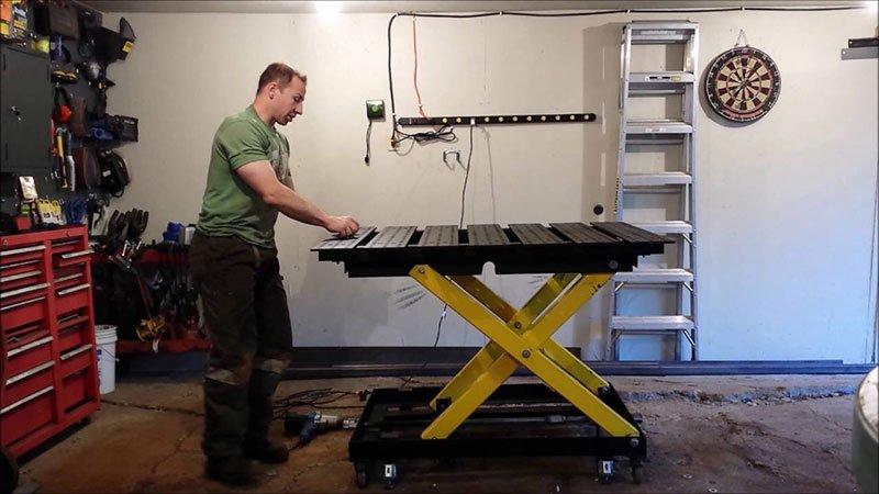 Welding Table Adjust