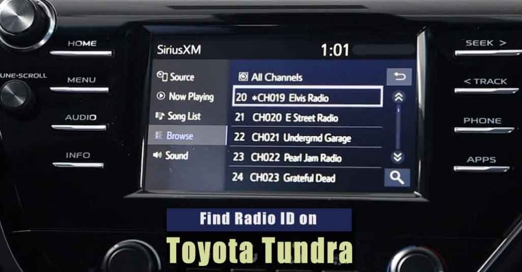 How to Find Radio ID on Toyota Tundra